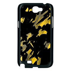 Painter was here - yellow Samsung Galaxy Note 2 Case (Black)