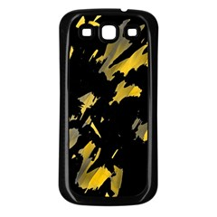 Painter was here - yellow Samsung Galaxy S3 Back Case (Black)