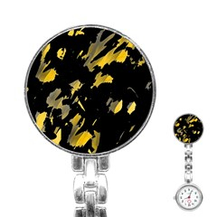Painter was here - yellow Stainless Steel Nurses Watch