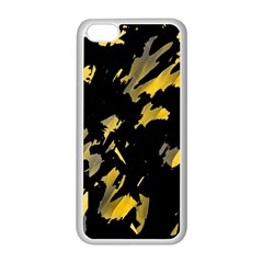 Painter was here - yellow Apple iPhone 5C Seamless Case (White)