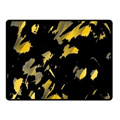 Painter was here - yellow Double Sided Fleece Blanket (Small)