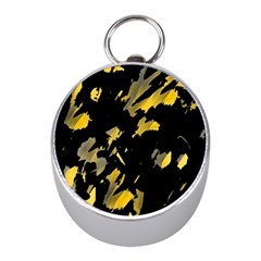 Painter was here - yellow Mini Silver Compasses