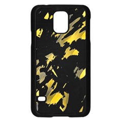 Painter was here - yellow Samsung Galaxy S5 Case (Black)