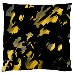 Painter was here - yellow Large Flano Cushion Case (One Side)