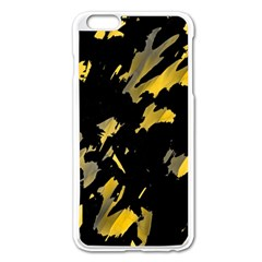 Painter was here - yellow Apple iPhone 6 Plus/6S Plus Enamel White Case