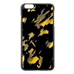 Painter was here - yellow Apple iPhone 6 Plus/6S Plus Black Enamel Case