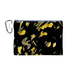 Painter was here - yellow Canvas Cosmetic Bag (M)