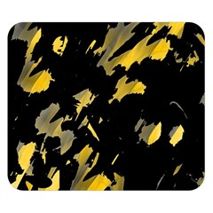 Painter was here - yellow Double Sided Flano Blanket (Small)