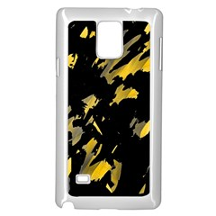 Painter was here - yellow Samsung Galaxy Note 4 Case (White)