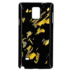 Painter was here - yellow Samsung Galaxy Note 4 Case (Black)