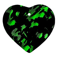 Painter was here - green Ornament (Heart)