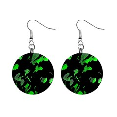 Painter was here - green Mini Button Earrings