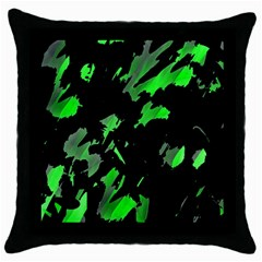 Painter was here - green Throw Pillow Case (Black)