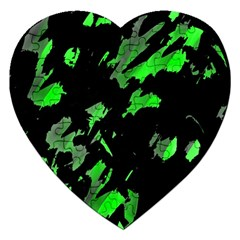 Painter was here - green Jigsaw Puzzle (Heart)