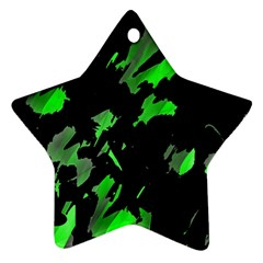 Painter was here - green Star Ornament (Two Sides)