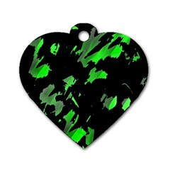 Painter was here - green Dog Tag Heart (One Side)