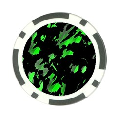 Painter was here - green Poker Chip Card Guards