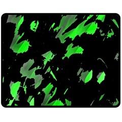 Painter was here - green Fleece Blanket (Medium)