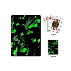 Painter was here - green Playing Cards (Mini)