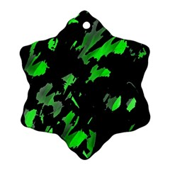 Painter was here - green Ornament (Snowflake)