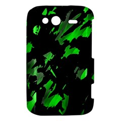 Painter was here - green HTC Wildfire S A510e Hardshell Case