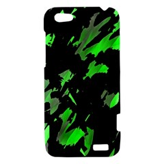 Painter was here - green HTC One V Hardshell Case