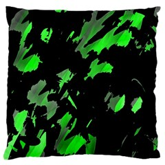 Painter was here - green Large Cushion Case (One Side)
