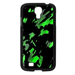 Painter was here - green Samsung Galaxy S4 I9500/ I9505 Case (Black)