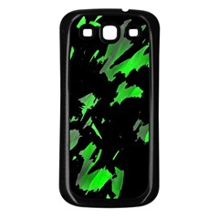 Painter was here - green Samsung Galaxy S3 Back Case (Black)