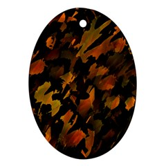 Abstract Autumn  Ornament (Oval)