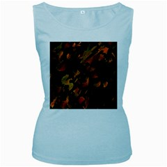 Abstract Autumn  Women s Baby Blue Tank Top