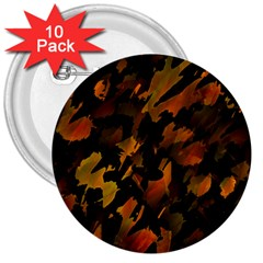 Abstract Autumn  3  Buttons (10 pack)