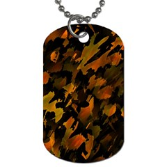 Abstract Autumn  Dog Tag (One Side)