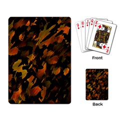 Abstract Autumn  Playing Card