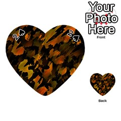 Abstract Autumn  Playing Cards 54 (heart)