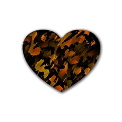 Abstract Autumn  Heart Coaster (4 pack)