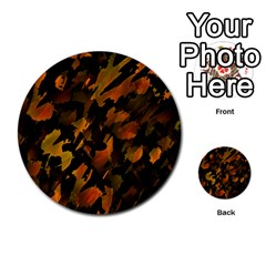 Abstract Autumn  Multi-purpose Cards (Round)