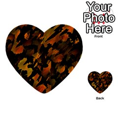 Abstract Autumn  Multi-purpose Cards (Heart)