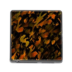 Abstract Autumn  Memory Card Reader (Square)