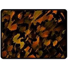 Abstract Autumn  Fleece Blanket (Large)