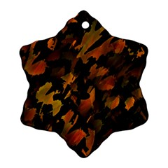 Abstract Autumn  Snowflake Ornament (2-Side)