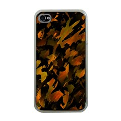 Abstract Autumn  Apple iPhone 4 Case (Clear)