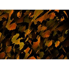 Abstract Autumn  Birthday Cake 3D Greeting Card (7x5)