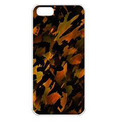 Abstract Autumn  Apple iPhone 5 Seamless Case (White)
