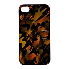 Abstract Autumn  Apple iPhone 4/4S Hardshell Case with Stand