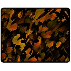 Abstract Autumn  Double Sided Fleece Blanket (Medium)