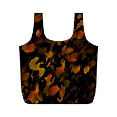Abstract Autumn  Full Print Recycle Bags (M)