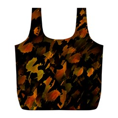 Abstract Autumn  Full Print Recycle Bags (L)