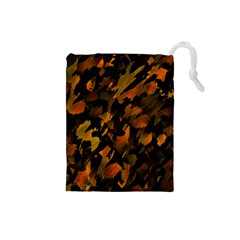 Abstract Autumn  Drawstring Pouches (Small)