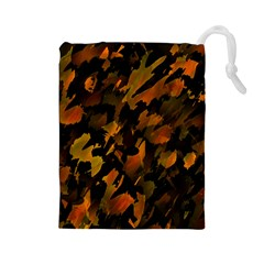 Abstract Autumn  Drawstring Pouches (Large)